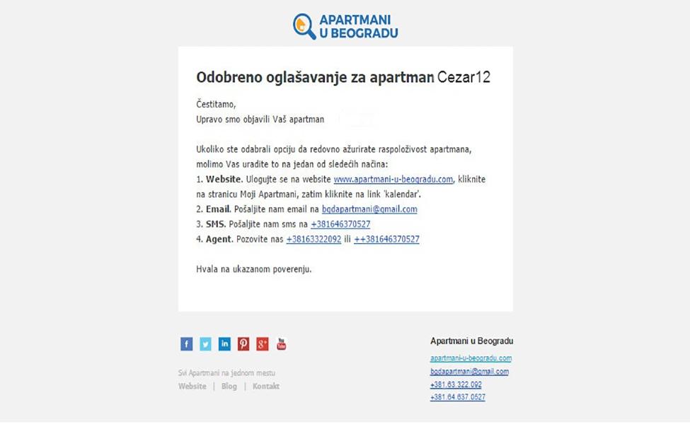 Odobreno oglasavanje na AUB