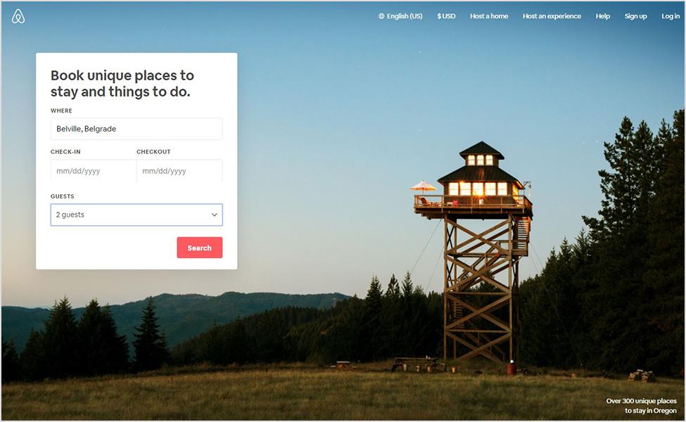 Pretraga Belvill na Airbnb-u